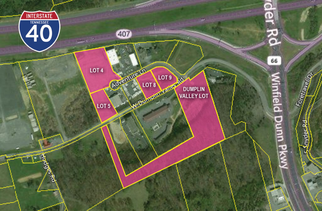 Incredible Commercial Land for Lease at Exit 407 in Sevierville on u.s. route 40 map, us interstate 40 map, interstate 40 tennessee map,