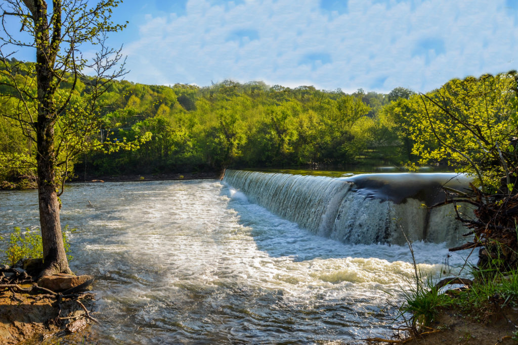 Historic Little River Mill Property For Sale Featuring 7 Acres On